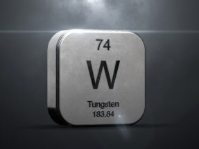 tungsten metal symbol