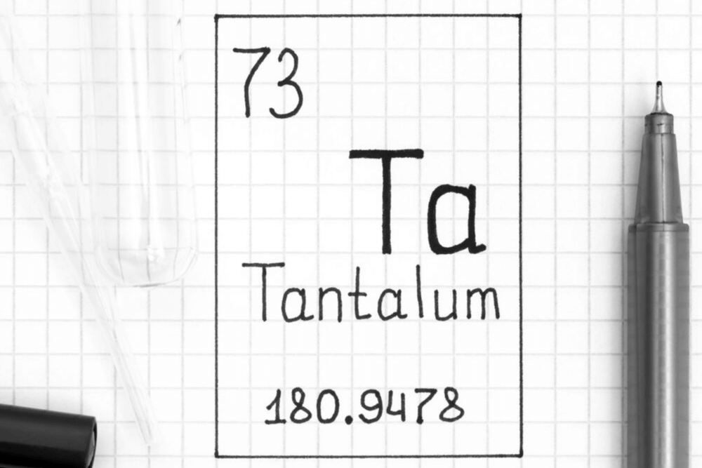 diagram of the chemical element of tantalum